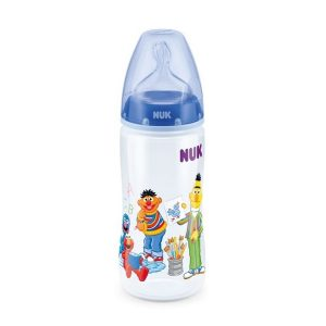 NUK BIBERÓN FIRST CHOICE+ PP 300 ML LÁTEX BARRIO SÉSAMO 0-6 MESES