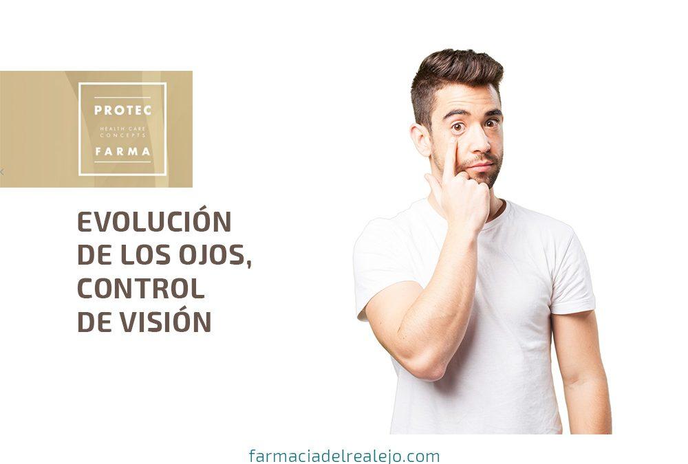Evolución de los ojos, control de visión