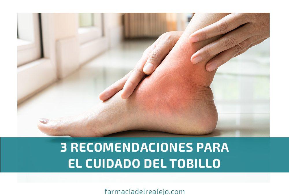 3 recomendaciones para el cuidado del tobillo
