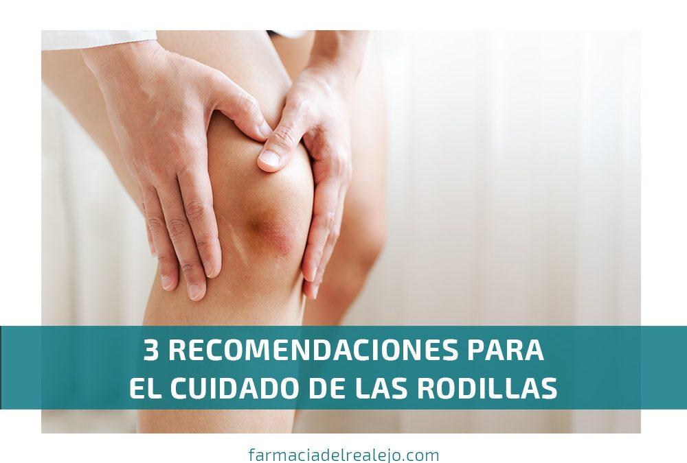 3 recomendaciones para el cuidado de la rodilla